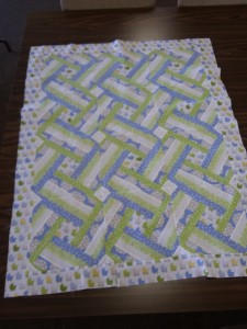 blue - green baby quilt