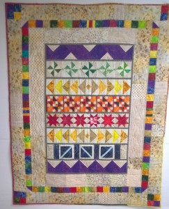 Color Wheel finished - Cosmo's Quilt